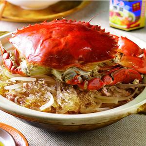 蟹肉粉絲煲