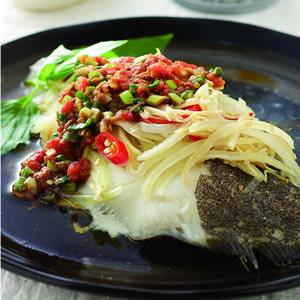 沙茶蒸鱈魚