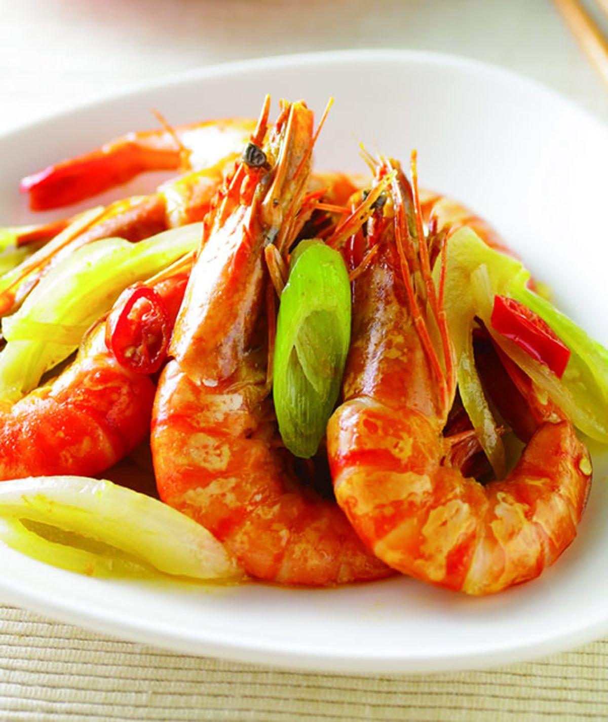 食譜:檸香沙茶鮮蝦