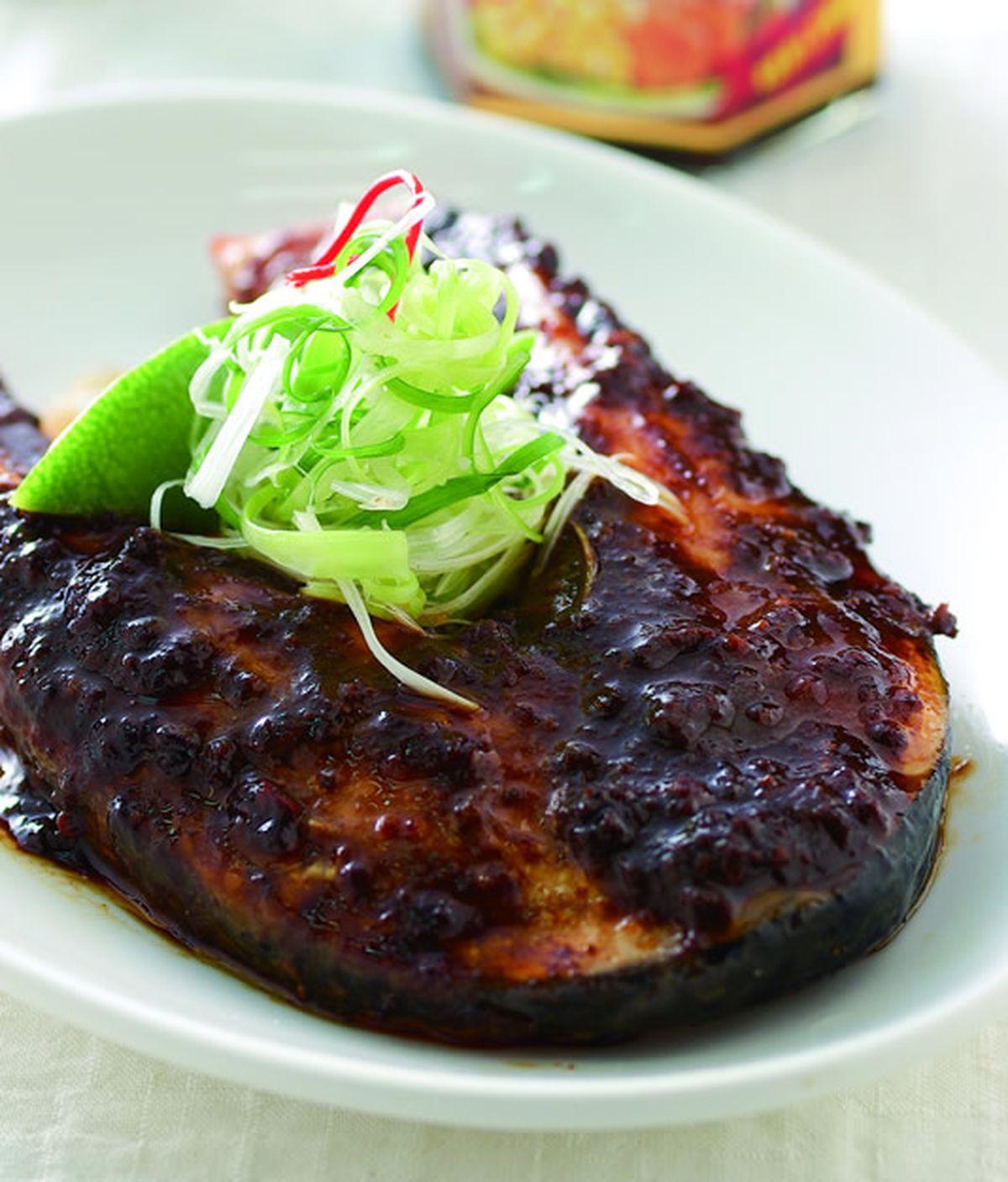 食譜:炸醬烤鮭魚
