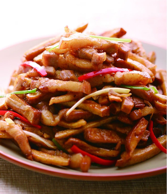 食譜:五花肉炒豆干(2)
