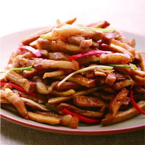 五花肉炒豆干(2)