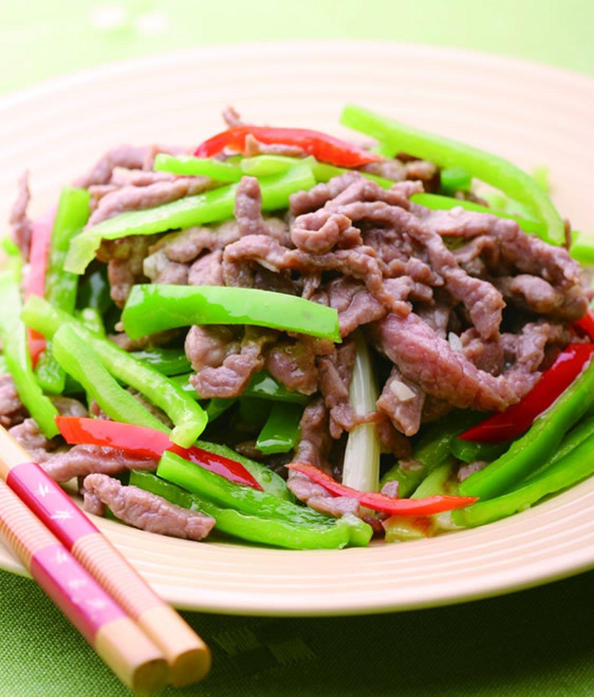 食譜:青椒炒肉絲(4)