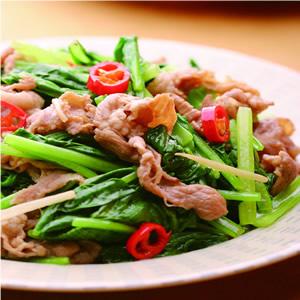 油菜炒羊肉