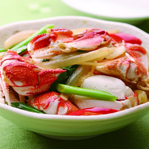 洋蔥炒蟹腳