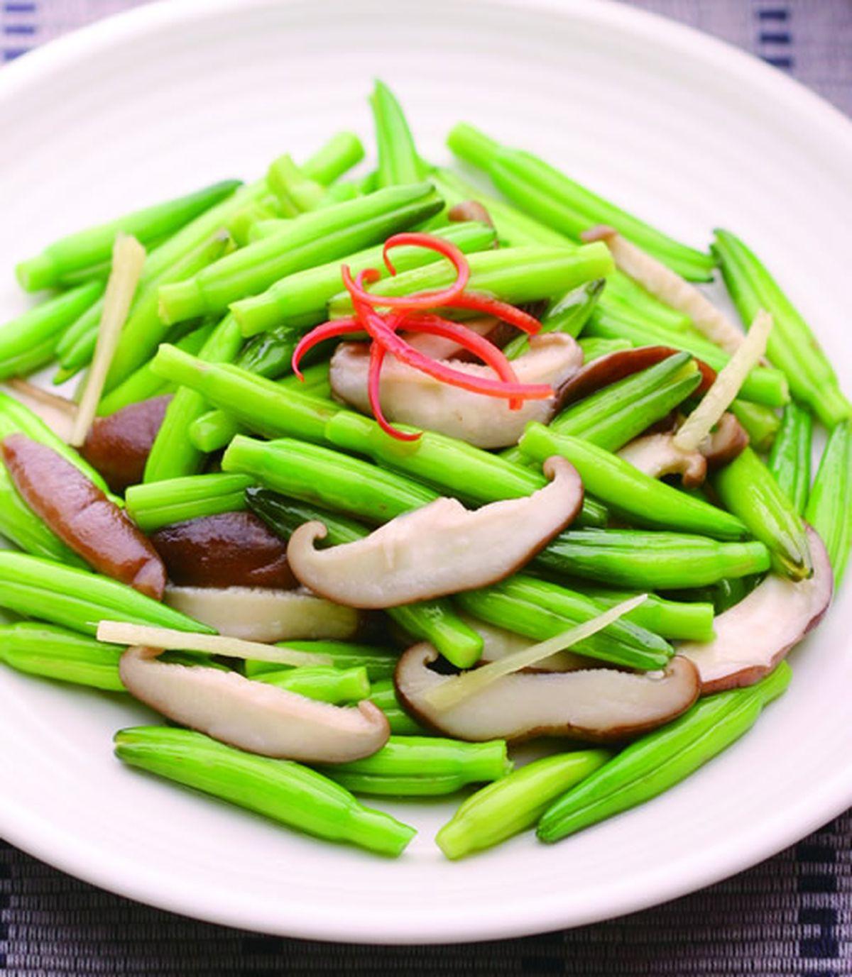 食譜:鮮香菇炒綠金針