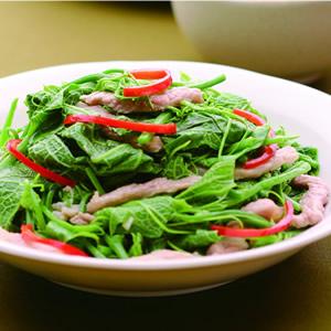 龍鬚菜炒肉絲(1)