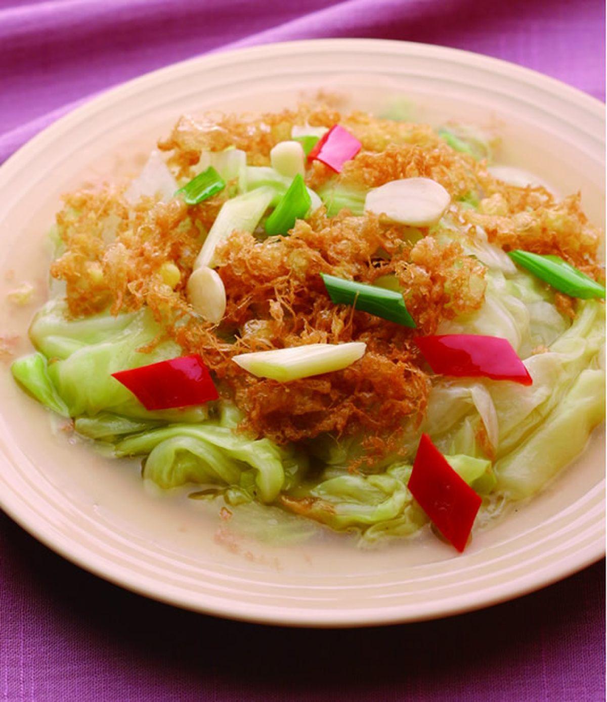 食譜:蛋酥白菜