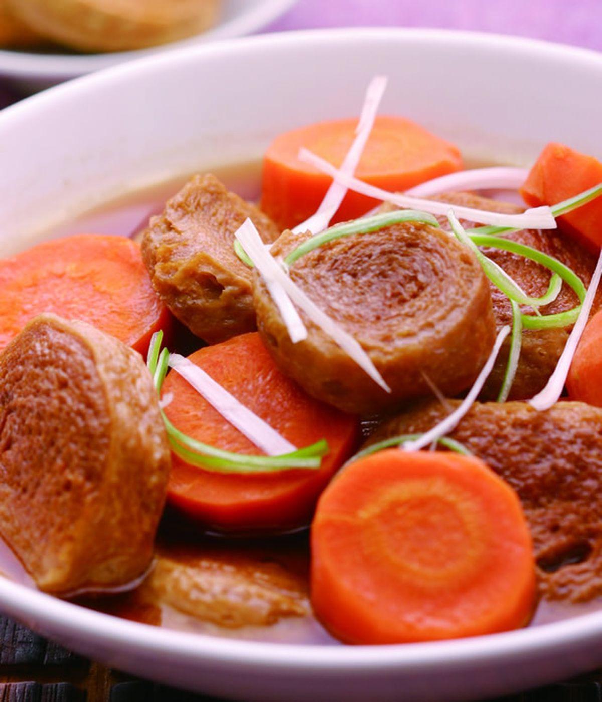 食譜:蘿蔔滷豆輪