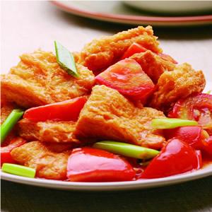 蕃茄炒豆包(1)