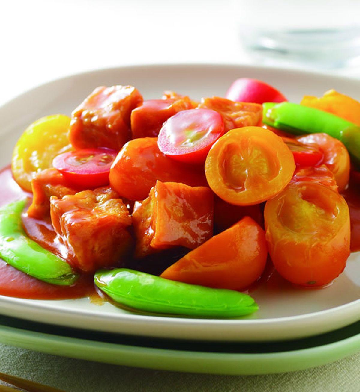 食譜:雙色蕃茄燴豆腐