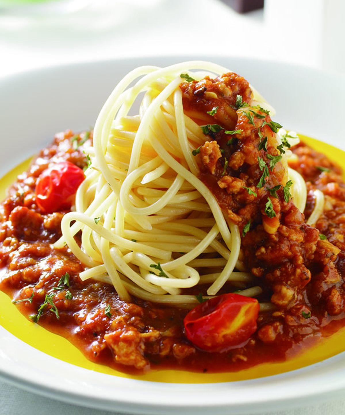 食譜:蕃茄肉醬義大利麵(1)