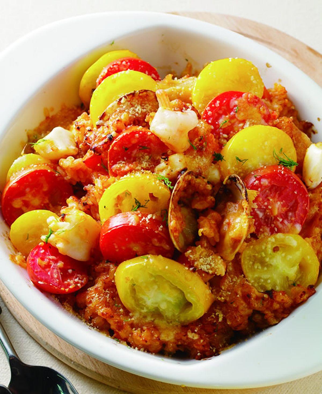 食譜:蕃茄海鮮焗飯