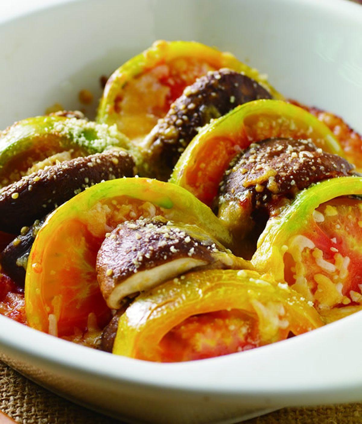 食譜:焗烤香菇蕃茄片