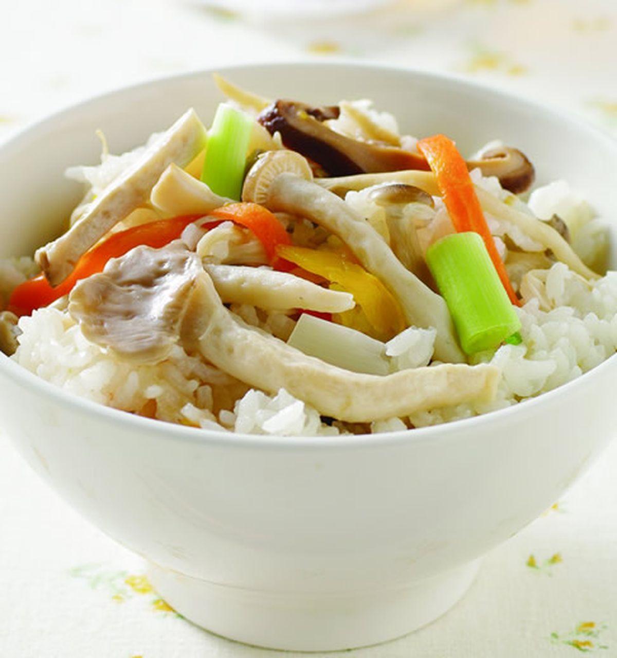 食譜:什錦菇菜飯