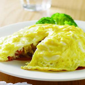 蝦仁火腿蛋包飯