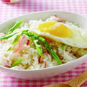 蘆筍蟹肉燉飯