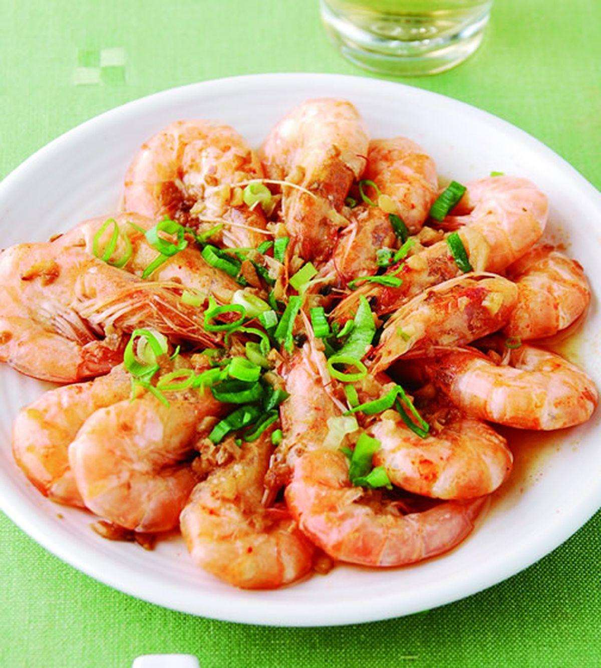 食譜:蒜茸蒸蝦