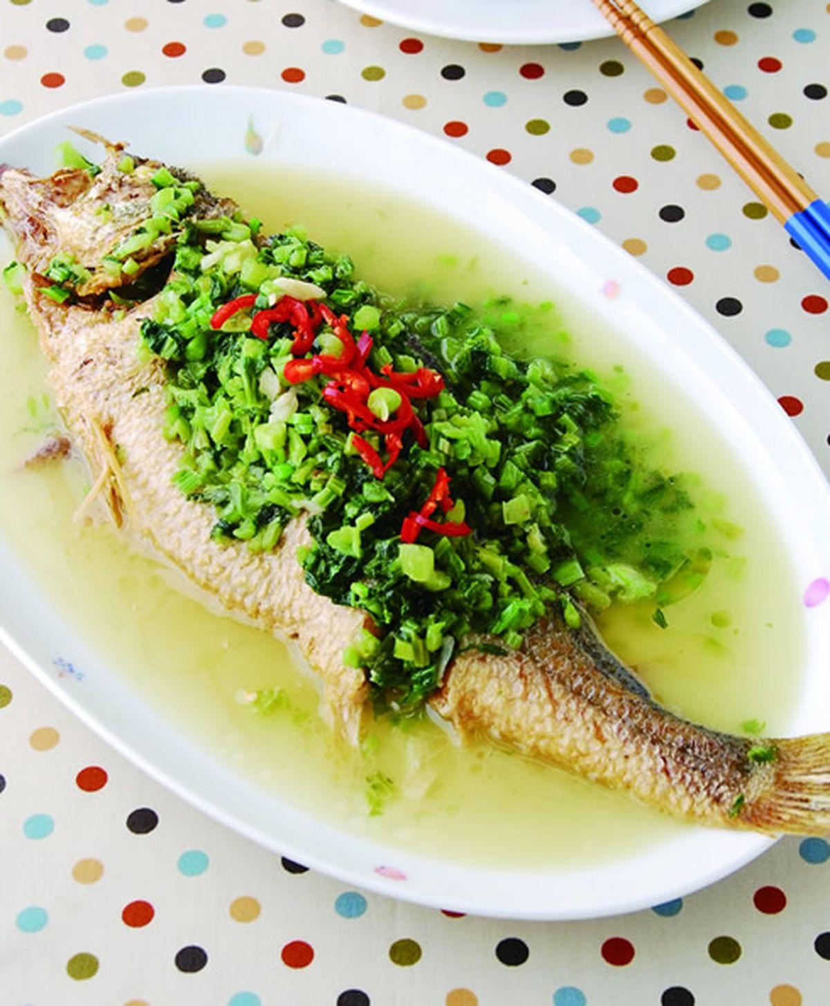 食譜:雪菜燒黃魚