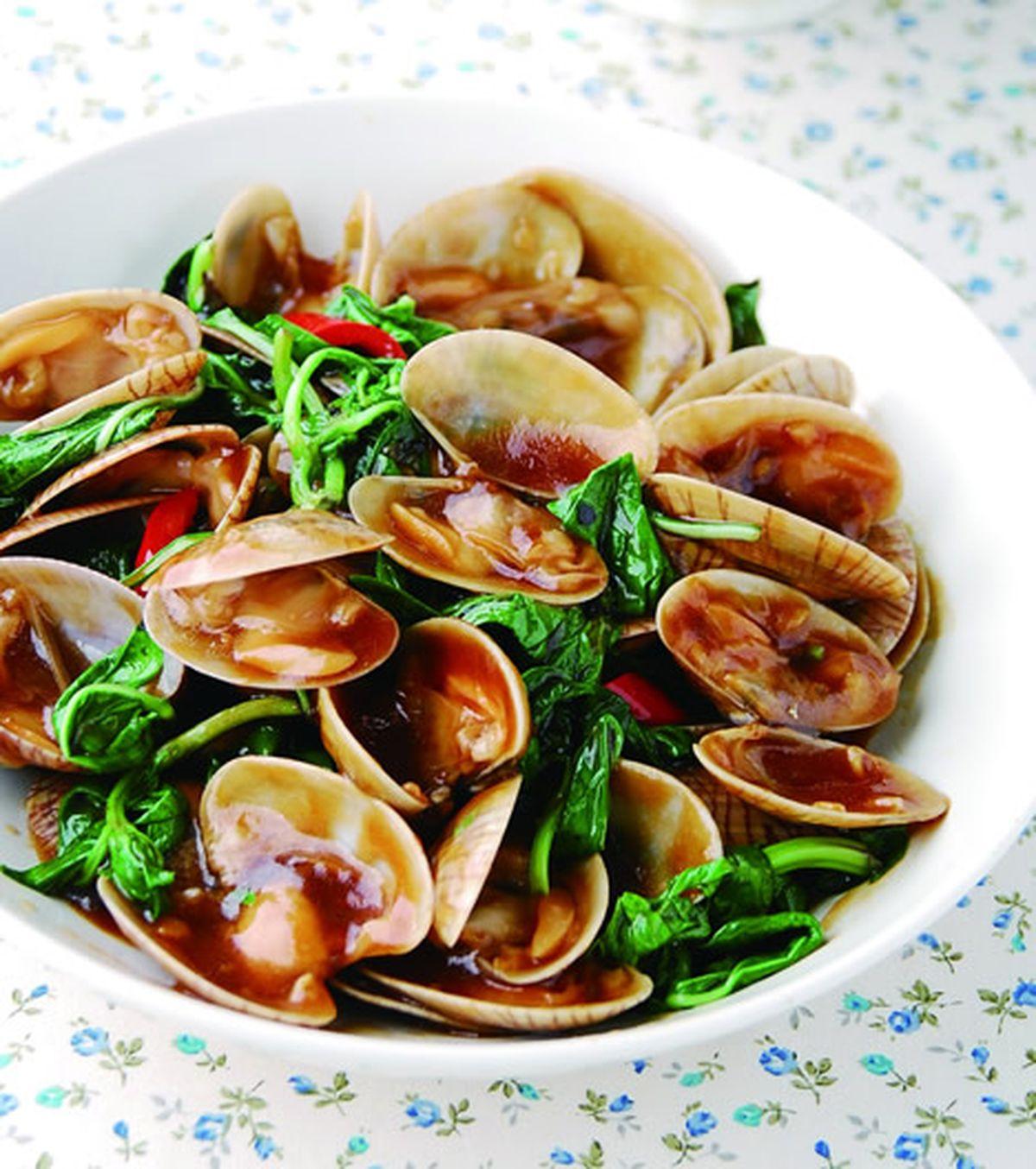 食譜:九層塔炒海瓜子(1)