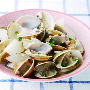 蒜茸白酒煮蛤蜊