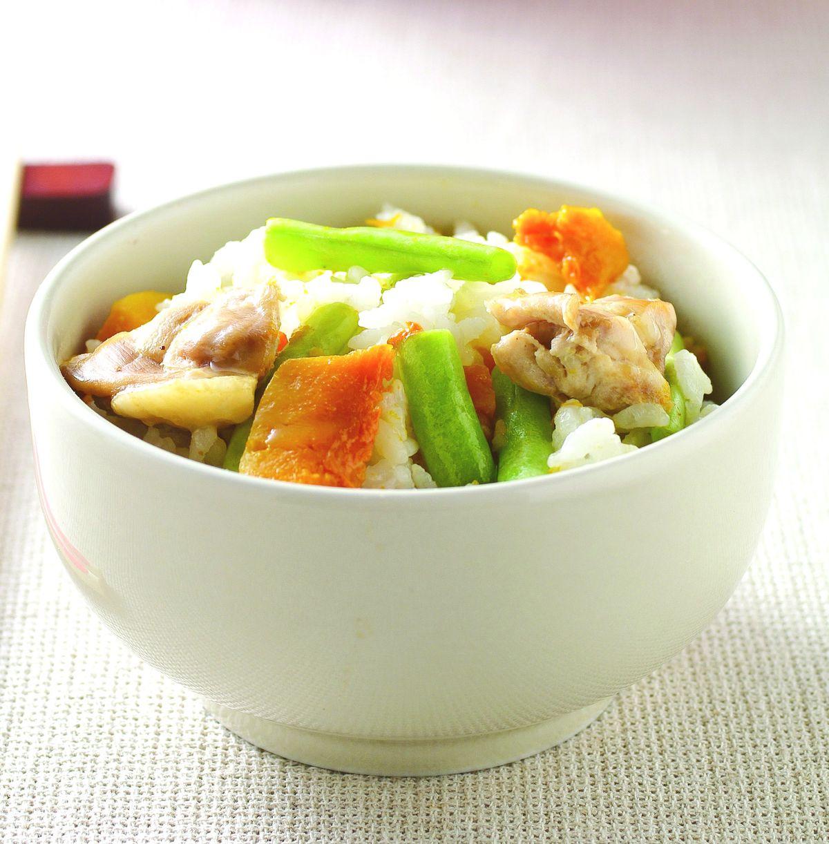 食譜:南瓜雞肉蔬菜飯