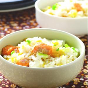 甜玉米鮭魚菜飯