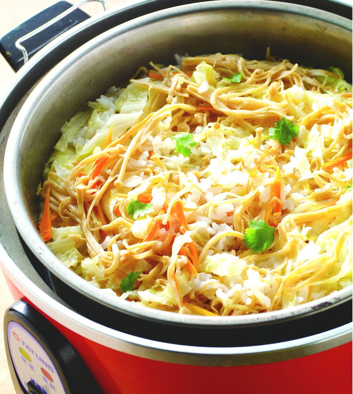 食譜:珍菇菜飯