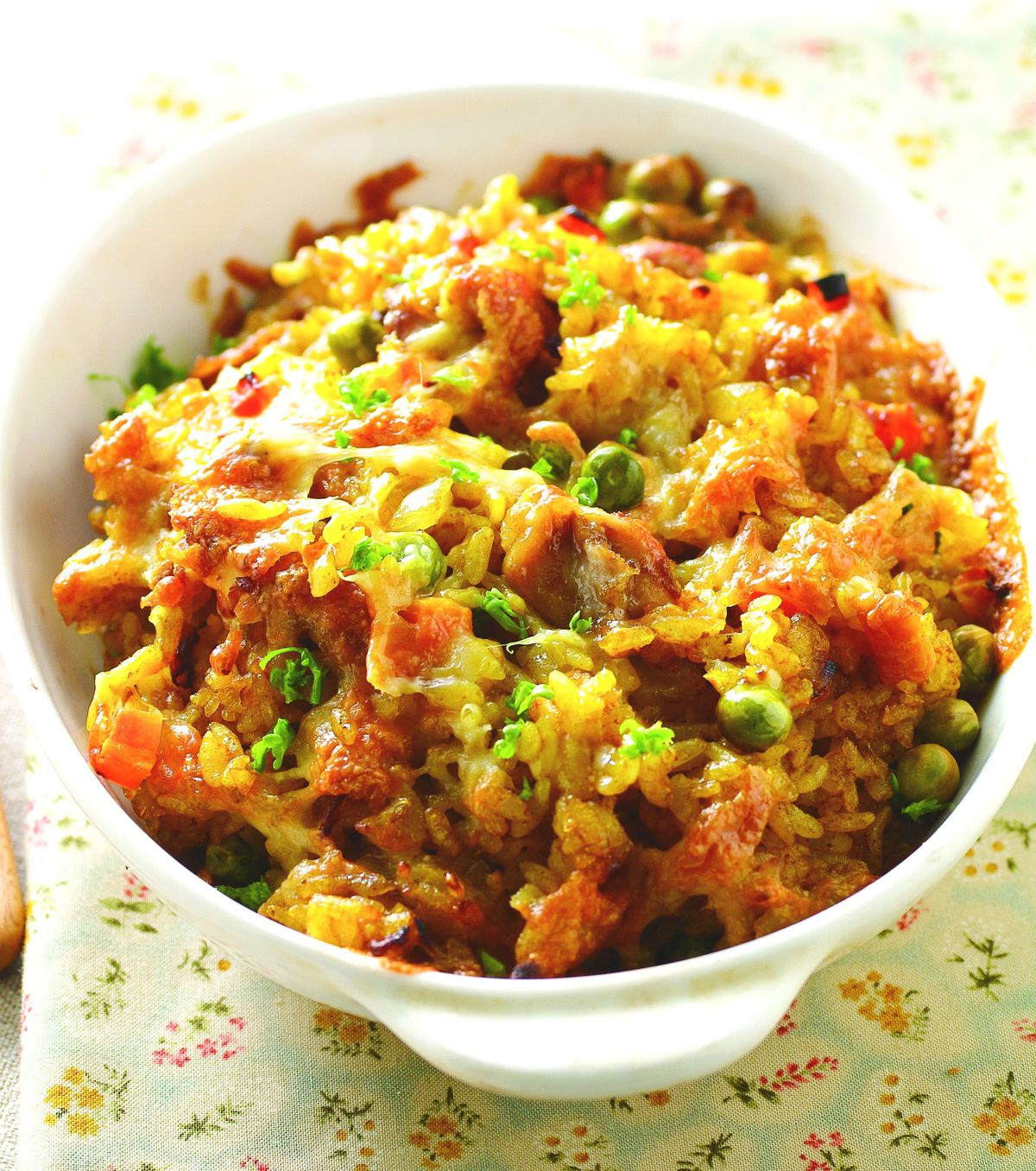 食譜:青豆咖哩雞肉焗飯