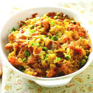 青豆咖哩雞肉焗飯
