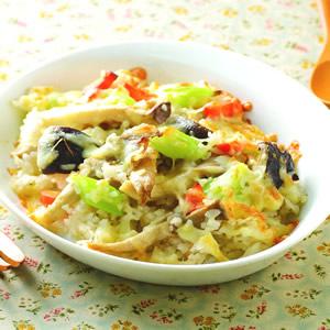 野菇蔬菜焗飯