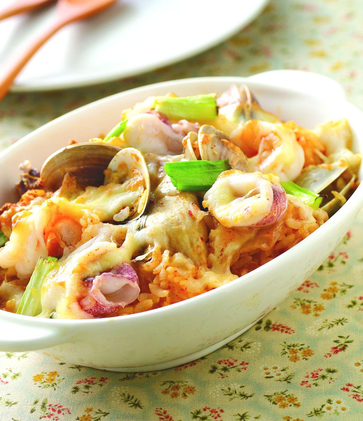 食譜:韓式泡菜焗飯