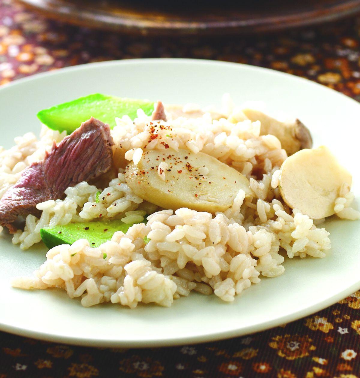 食譜:杏鮑菇牛肉焗飯