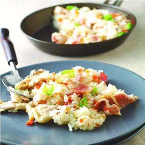 培根袖珍菇燉飯