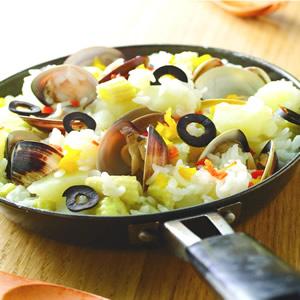 馬鈴薯玉米蛤蜊燉飯