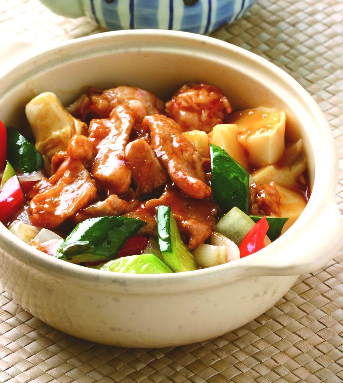 食譜:醬燒肉片煲