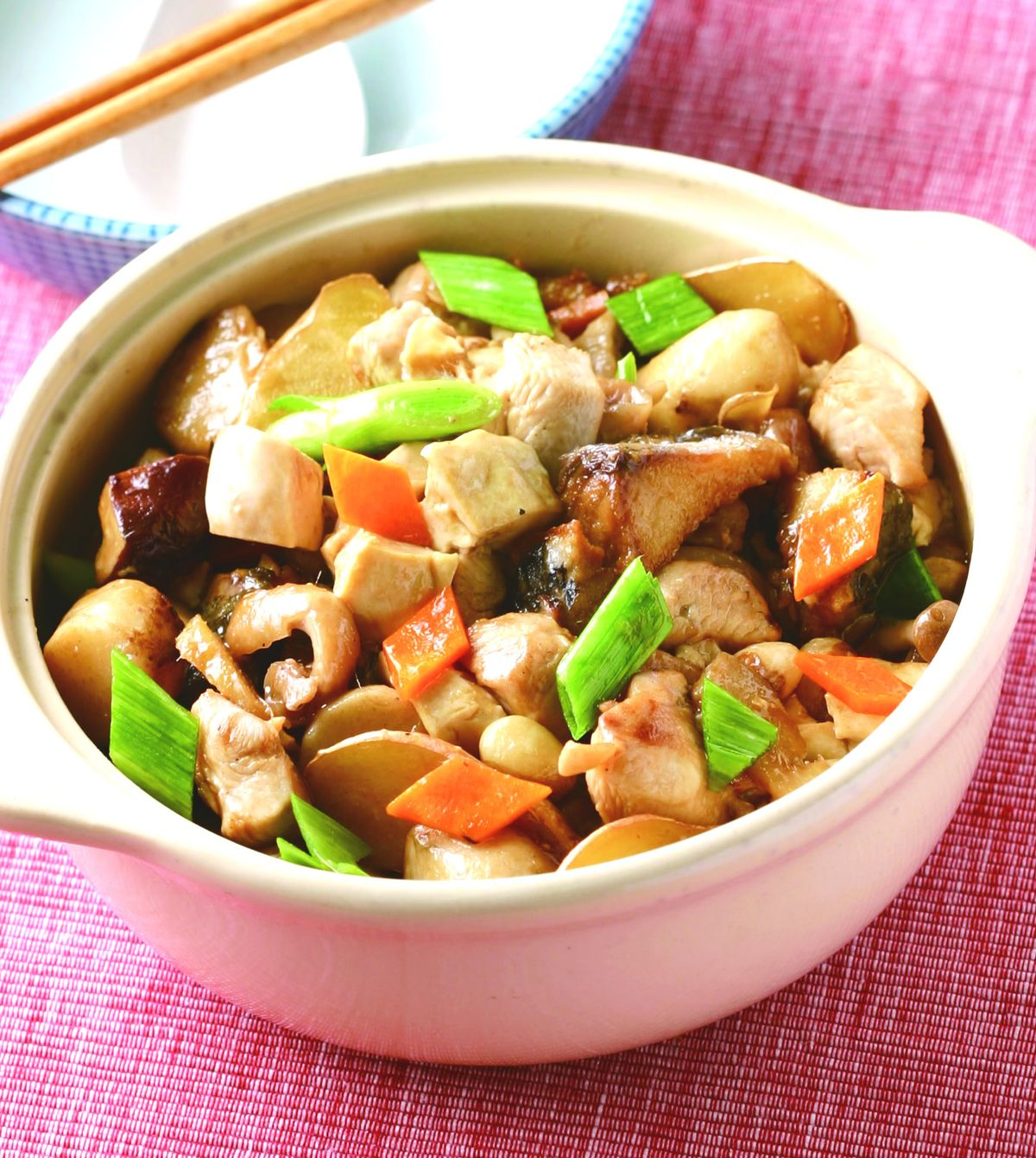 食譜:鹹魚雞丁豆腐煲