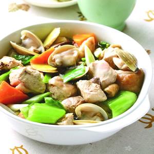 蛤蜊煲嫩雞