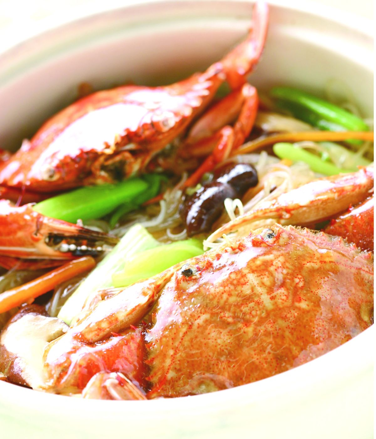 食譜:花蟹米粉煲