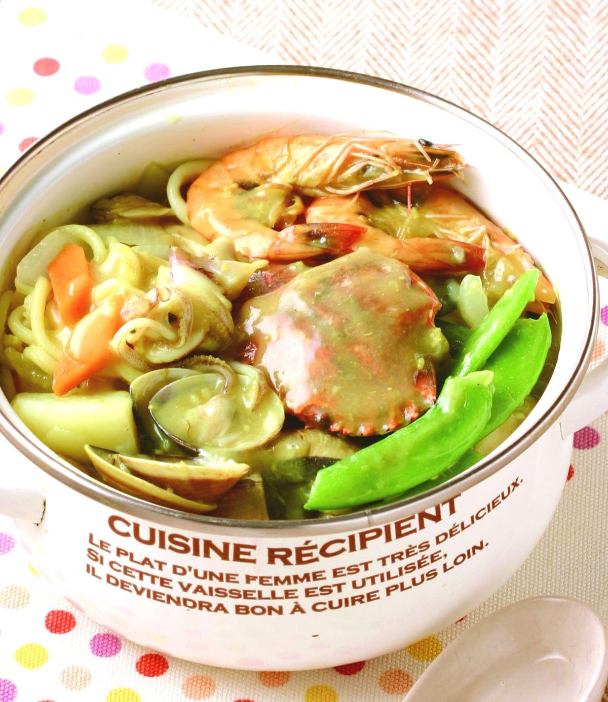 食譜:咖哩椰奶海鮮煲