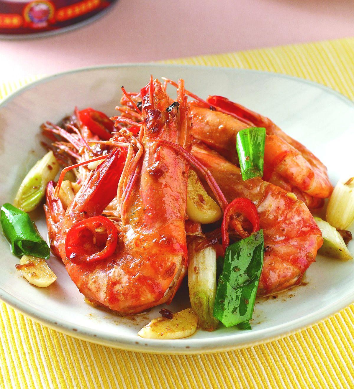 食譜:紅蔥肉燥爆鮮蝦