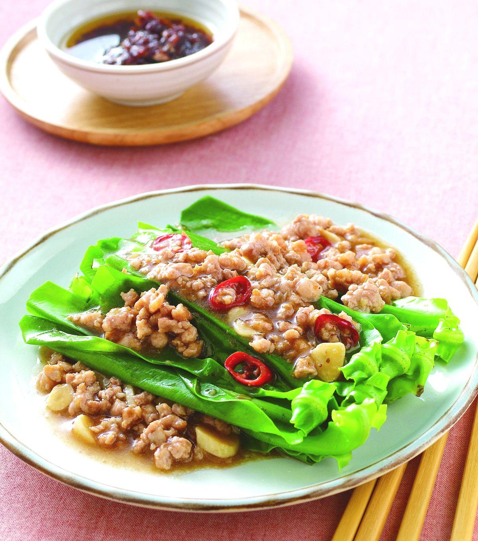食譜:肉燥炒山蘇