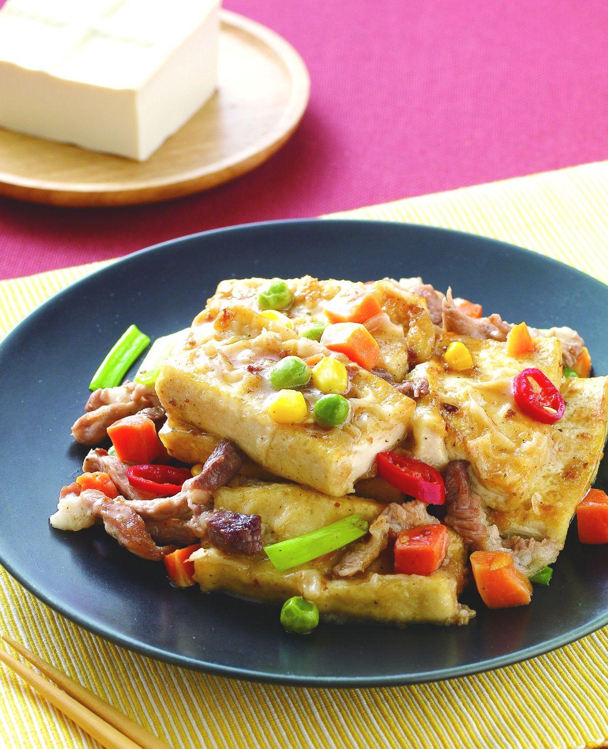 食譜:香椿煎豆腐