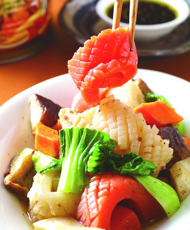 食譜:香椿燒蒟蒻捲