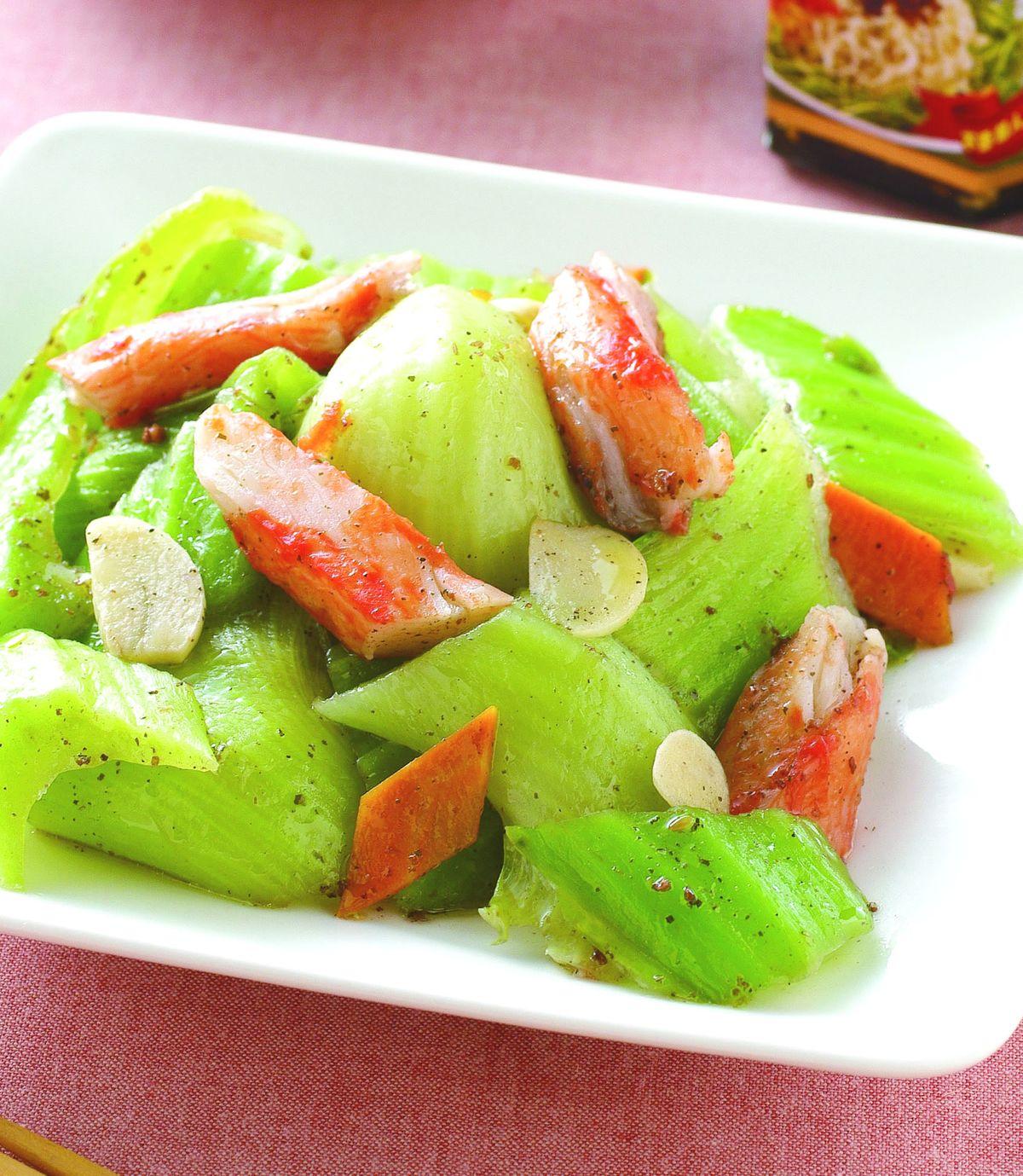 食譜:蟹肉炒芥菜