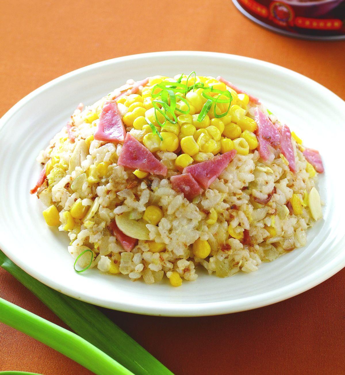 食譜:紅蔥玉米蛋炒飯