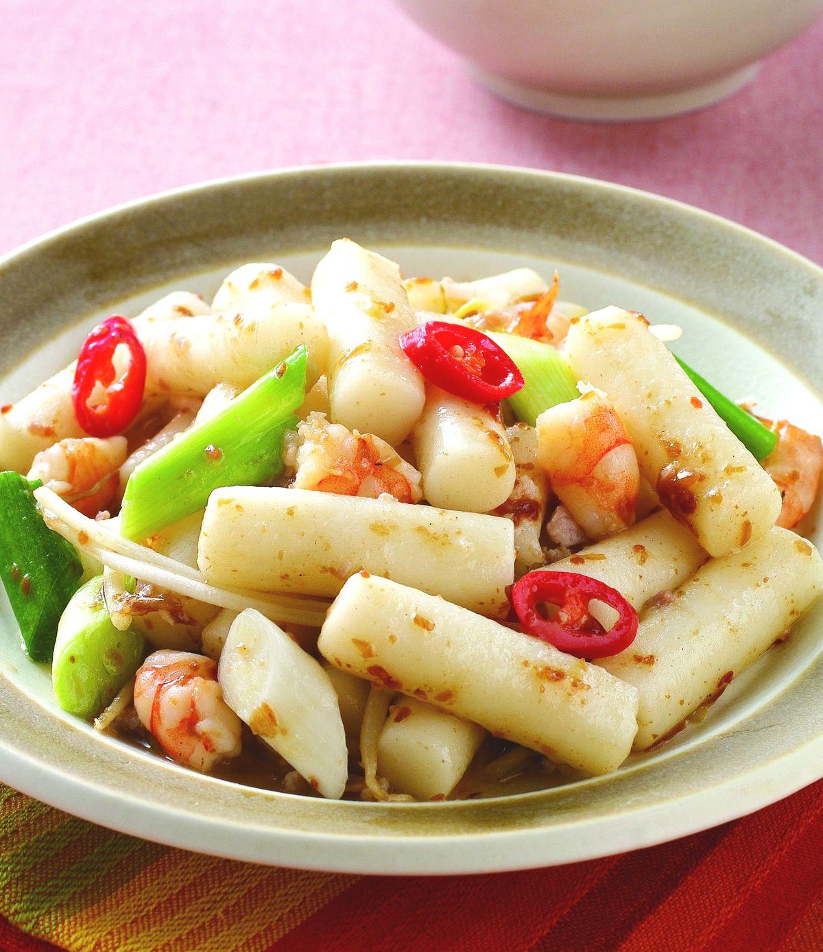 食譜:鮮蝦炒年糕