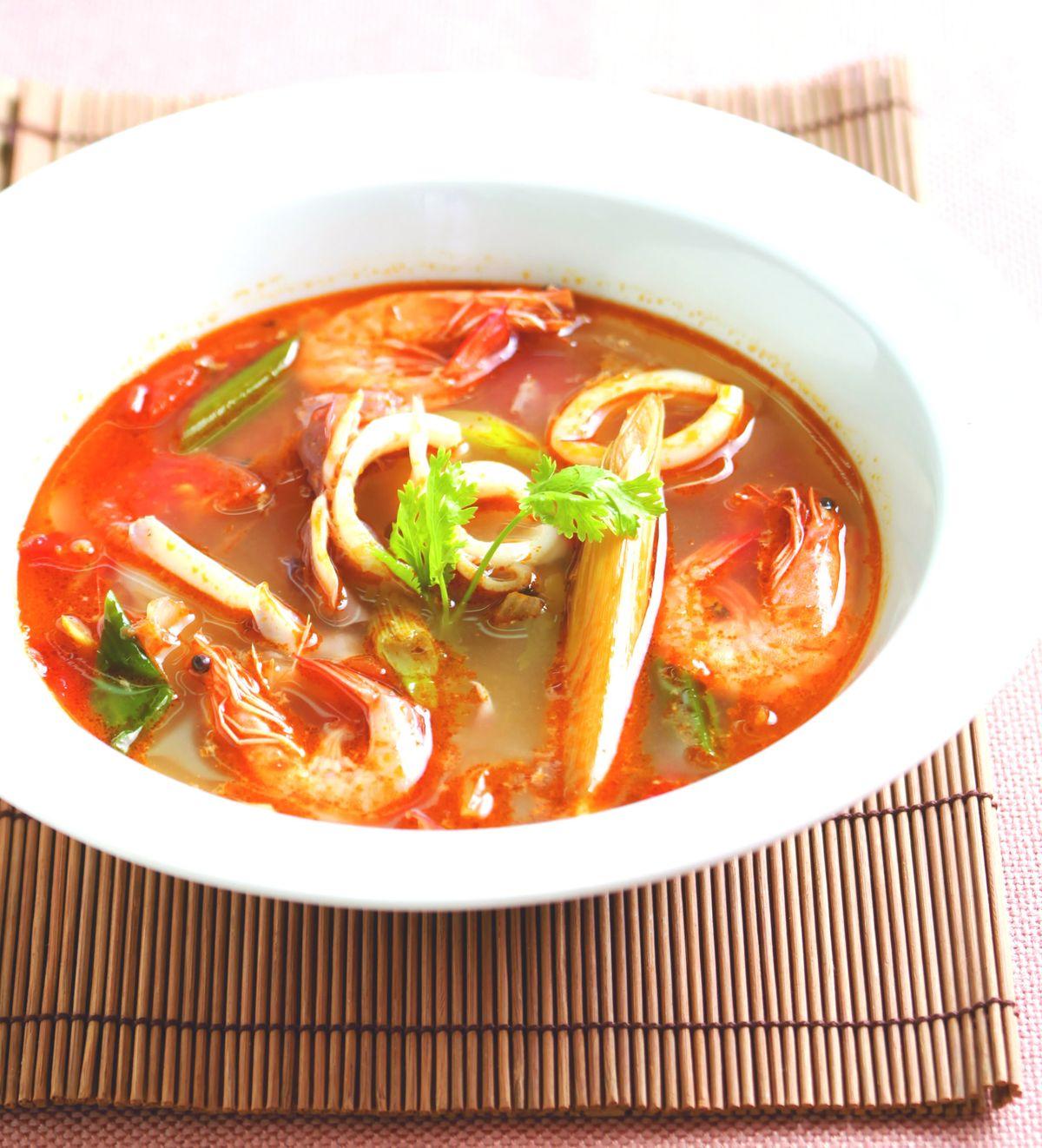食譜:泰式海鮮酸辣湯(1)