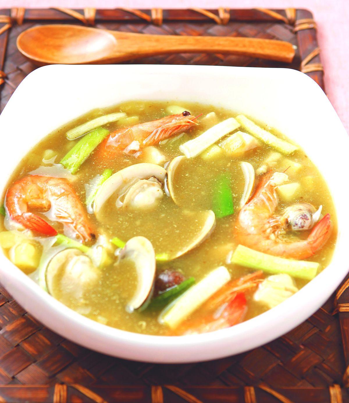 食譜:咖哩海鮮濃湯