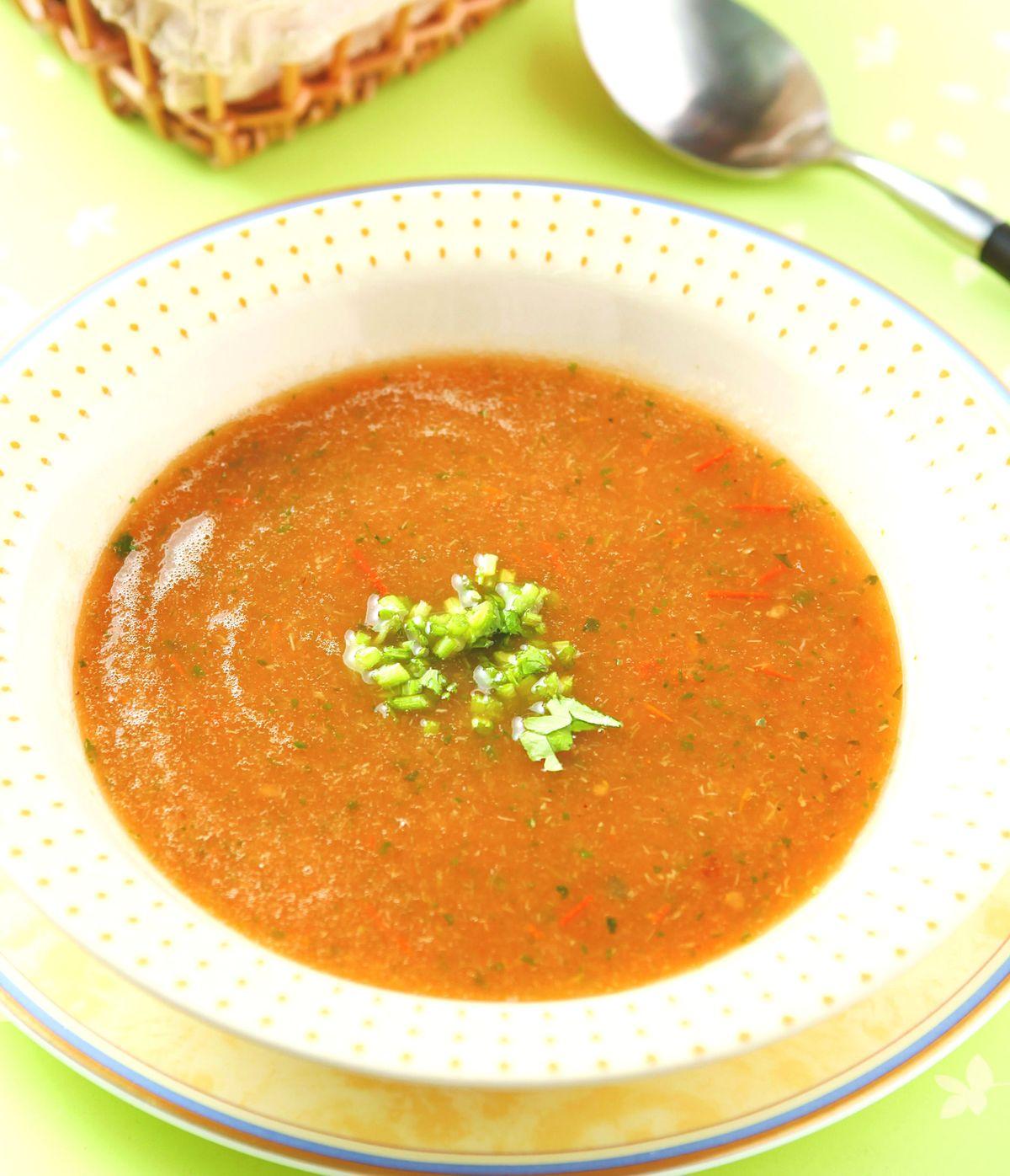 食譜:蕃茄香根冷湯
